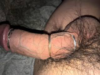 An extra cockring makes my veins pop up