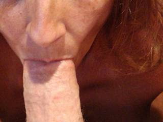 I just love the feel of a big dick in my mouth and the feeling of him cumming down my throat