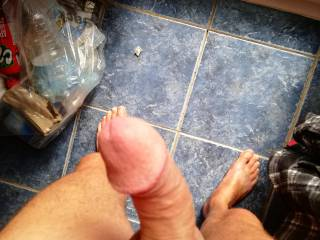 Waiting for his blowjob