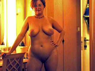 Just getting naked and revealing your amazing body with your big sexy thighs and big beautiful titties that I would love to suck on and lick!!!! I sure wish I could play with your tits and you could play with my cock!! You're very beautiful!!!