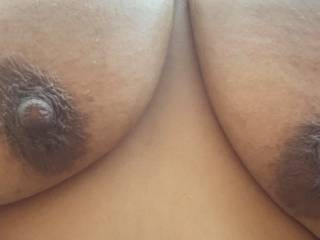 My big tits hanging outside