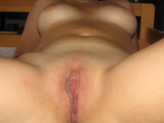 Yeah my thick cock n a juicy fat hot load of cum deep inside that delicious pussy......mmmmmmmmmmmmmm !!! X