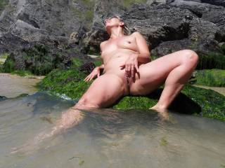 fingering at the beach