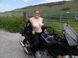 hi all I do enjoy being taken out on hubbies bike. dirty comments welcome mature couple