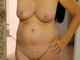 Wife posing Naked
