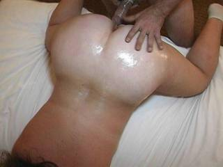 Wish I was deep off in your sweet oily body just like that with my BBC, fucking you for hours