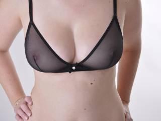 black see through bra