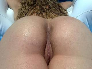 mmm My load would look good all puddled up on your ass hole and slowly dripping down that sweet looking pussy
