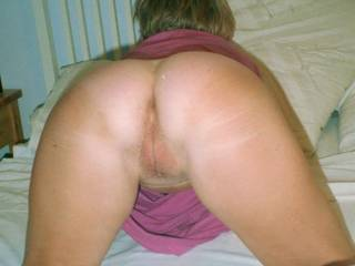 Such a fine ass! I'd love to tease it with my tongue before sliding my hard cock in and fucking you hard!