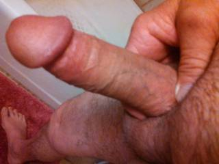 I love looking at your sweet naked cock....wanna watch me suck it and ride it to orgasm.  MILF K