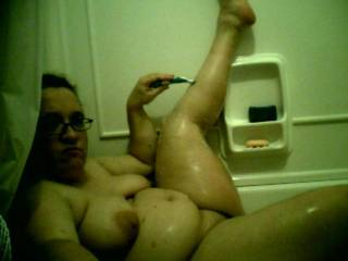 wow, u look awesome in that tub:) love those boobs and would help if required lol