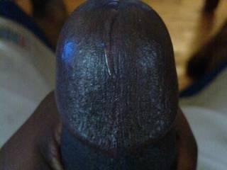 pre cum dripping down my dick\'s head