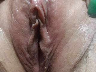 Nicely shaved pussy....like how I shaved her bald?