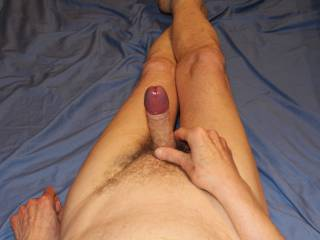 Before you slide down onto my shaft allow my swollen glans to lightly brush against your clitoris for a few moments.