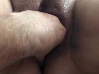 Fingering and Fisting my BBW wife while she gives a handjob