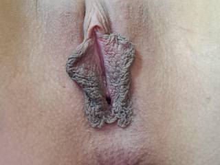 My pussy lips for all to see