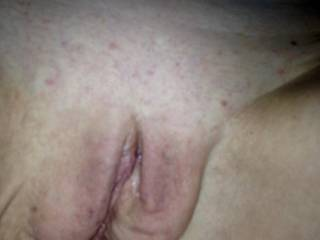 Here is my smooth, freshly waxed pussy. I've been a naughty girl and have been playing with it. I'm very wet thinking of all the things you would do to it.  What would you do to it?