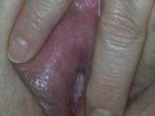 Married slut spreading her pussy.