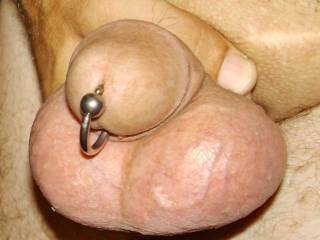 bigger ring looks better,replace one,anyway you have a nice cock.