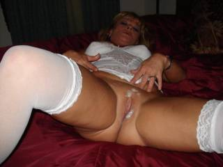 I would love to lick, kiss, finger, suck yor marvelous pussy suck your clit and after you have a monserous clioral orgasm shove my cock in and fuck you as hard and as long as I can.  You look so delicious and such a desireable playmate.