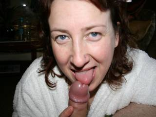 I'll cum on your face, on your breasts, in your cunt, or anywhere else you want - just say the word! :-) xx