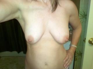 Nice tits may i suck on them nipples