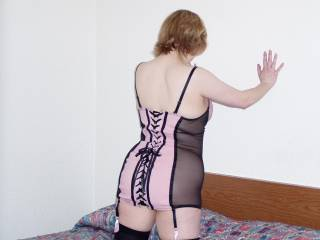 new outfit she bought while shopping with hubby to fuck me in!