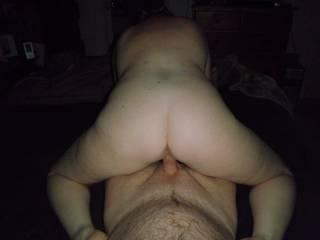 Riding my hard cock and giving me a great view of her great arse...Soooo hot