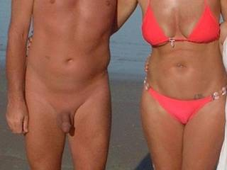 A pic taken at our local nudist beach. Mrs Oz is still wearing her bikini but took it off just after this pic.
