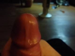 This is for those precum lovers. A huge drop formed and a ran down my head, then I had to jack off.