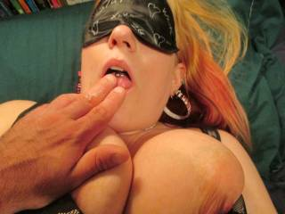 After he made me Cum all over his fingers, He makes me lick them clean, Can I lick my Cum off your fingers next? *kiss