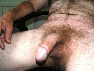 Love to suck your beautiful thick hairy cock!!!!