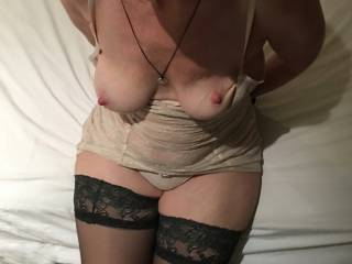 My tits being exposed before I suck a new guy, friend of my boyfriend. I didn\'t know it then, but I was about to have possibly the best fuck of my life :)      .... and I\'ve been around :)