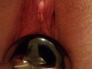 Trying out my new glass dildo. It feels so smooth inside me.