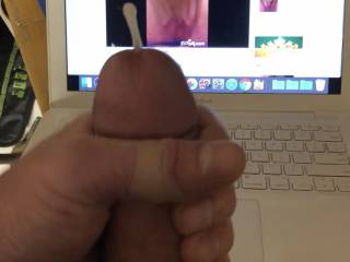 This is the best I can show cause my other pictures showing massive cum didn't have my cock in the pic. Beginner mistake :-(