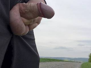 Some showing off and wanking on a public country lane.