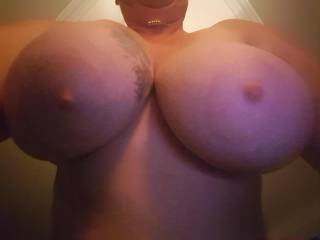 My big tits hanging when in doggy position