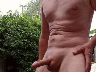 Naked outdoors again