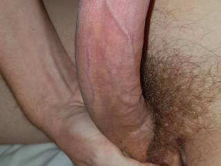 love squeezing my balls while i stroke my cock