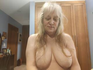 Would you like to fuck my tits, and splatter your hot cum all over them? I love when when a man shows his love this way. By the way, should I let my hair grow longer? Hubby says he wants it to go all the way over my breasts.