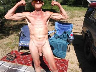 We love to be naked outdoors. I try to keep myself HARD for the wife. Not bad for 65 and the sex drive of a 30 yr old. Lets go all day. ROCKHARD and READY