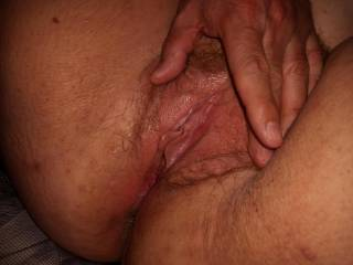 Freshly licked pussy