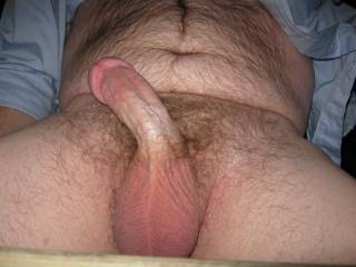 I like what it is....a hot sexy relaxed cock...I would have fun licking, kissing and sucking on it.  I would use just my mouth, lips and tongue to fondle it. That's a sexy cock picture.  Mrs. K