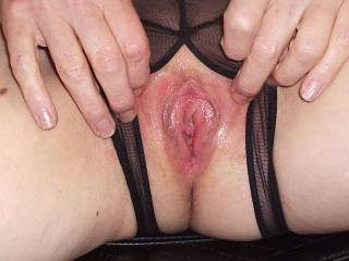 Yum!  I wanna eat that tasty pink pussy until you cover my face with cum.