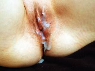 we had a little gangbang with four friends. my pussy was a little sore but it was fun