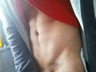 Mmm.,,yes! Feel my tongue making a warm wet trail down those sweet abs straight to your thick hard cock!