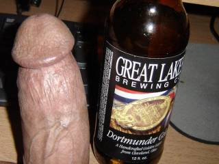 I want them both! Nothing like sucking a huge cock after a few beers to fill my huge belly!