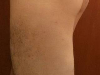 Gay friend showing his butt and legs.