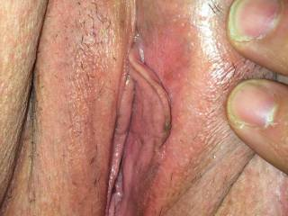 The wife showing me her used wet Pussy after fucking a co worker then I fucked her