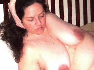 Damn!! Look at those amazing nipples, love to fuck those big beautiful tits then cum all over your nipples...watching them get hard as I smeared my cum over them with my hard cock!!!